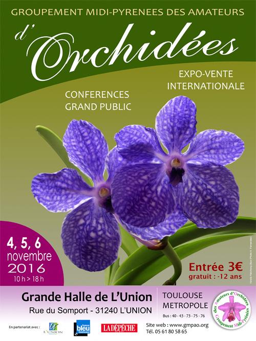 Expo-vente d'Orchidées à l'Union-Toulouse les 4,5 et 6 Novembre 2016 Affiche_2016